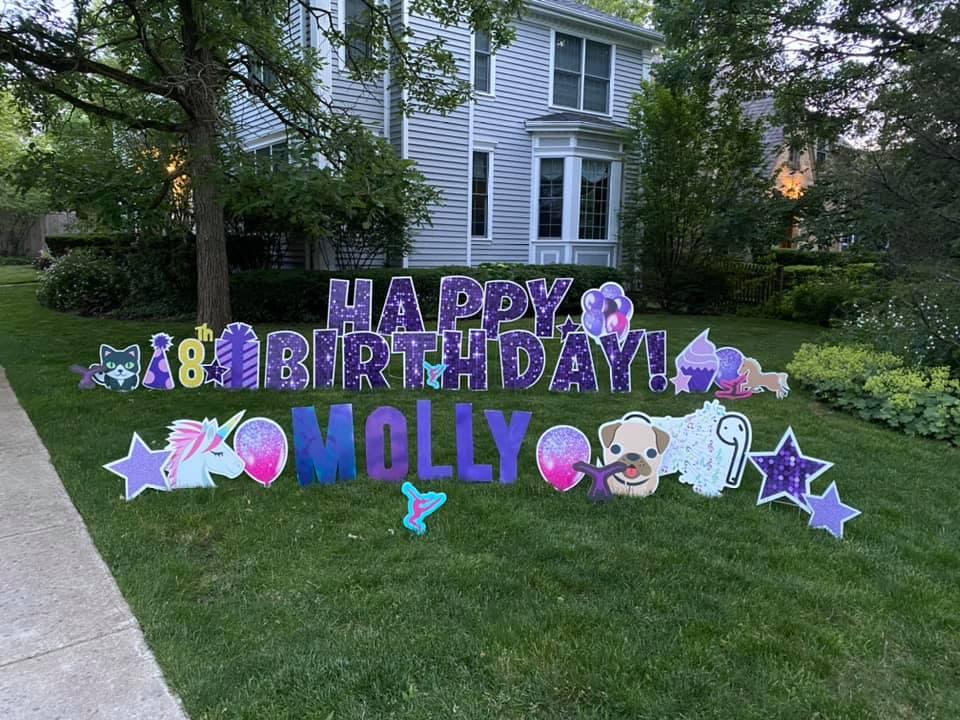 purple sparkle set, homemade letters