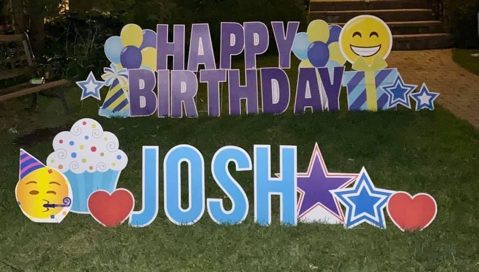 blue/purple set, blue letters