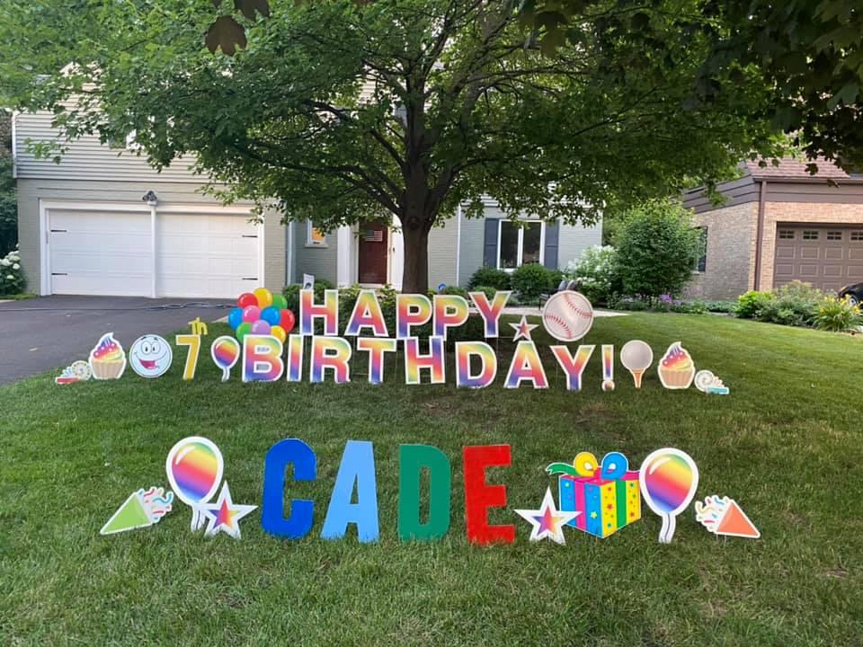 rainbow set, homemade letters