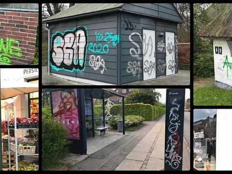 Graffiti i Roskilde for 391.000 kroner