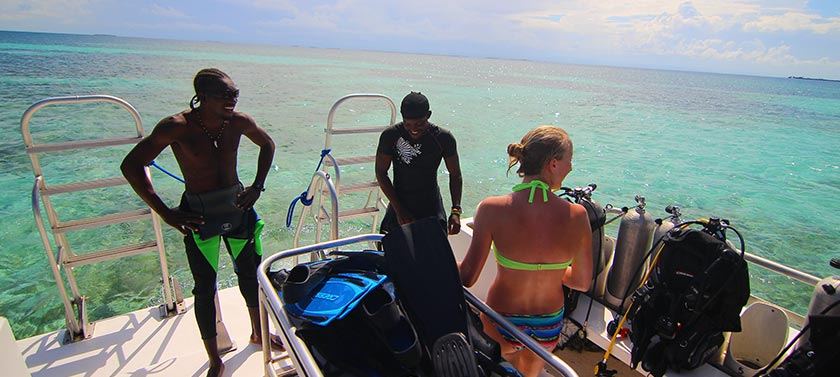 Diving at South Water Caye