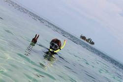 Snorkeling at South Water Caye