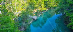 Blue Creek aerial view