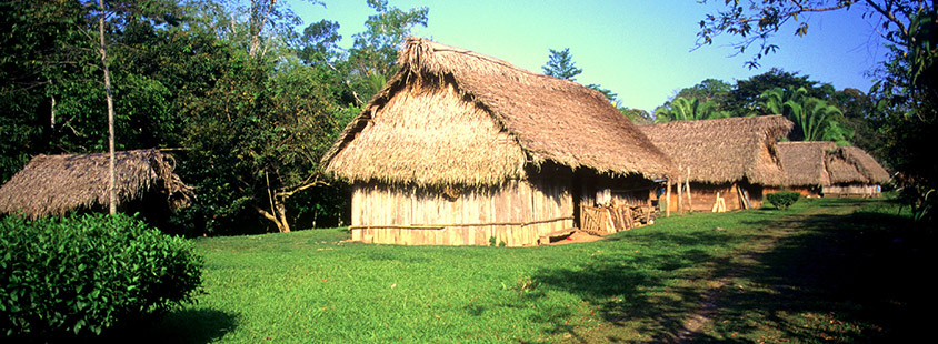 Traditional Maya House at Blue Creek
