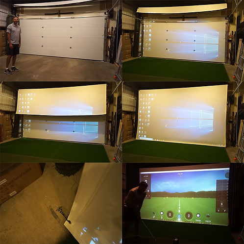 Stealth Retractable Impact Projection Screen