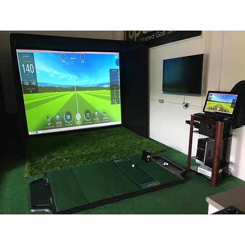 SimCube Golf Simulator Enclosure with SQ Impact Screen