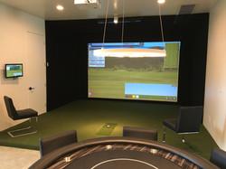 TruGolf Installation with Raised Floor