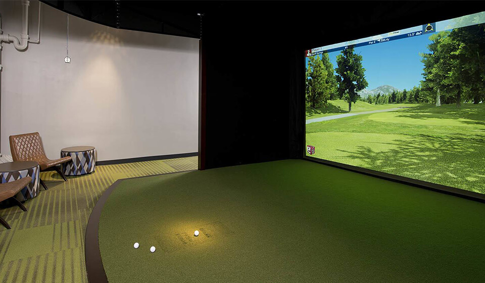 4.5m custom installed Golf Simulator
