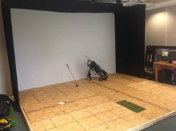 Raised floor before finishing - note the strike insert panel set into the floor