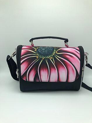Satchel Bag - Pink African Daisy