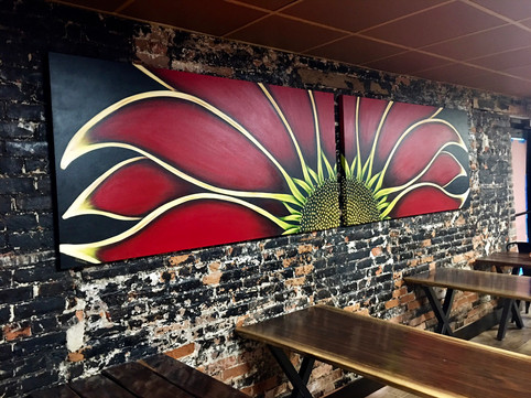 Custom Gazania for The Honey Hole, a Plymouth, MI Restaurant.