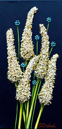 "Petite Blooms - White #991  (6"" x 12"")"
