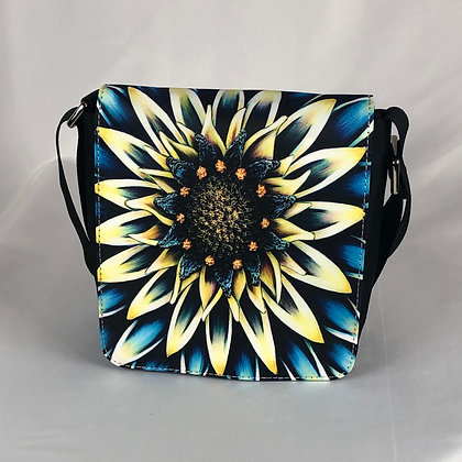Small Flap Messenger Bag - Aqua Mum