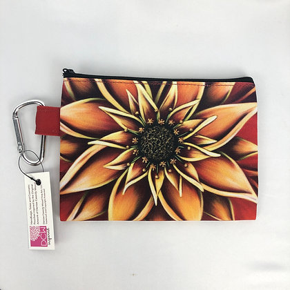 Canvas Cosmetic Pouch (Sm & Lg) - Persimmon
