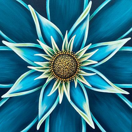 """Turquoise #1224 (20"""" x 20"""")"""