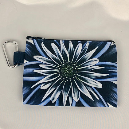 Sm. Canvas Cosmetic Pouch - Moody Blues