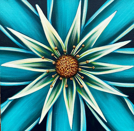 """Totally Teal #1231 (16"""" x 16"""")"""
