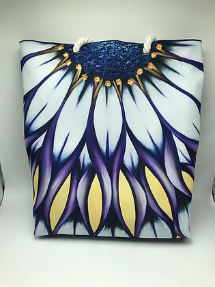 Wild African Daisy Rope Tote