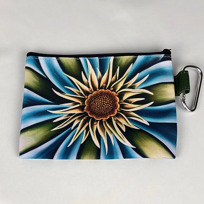 Sm. Canvas Cosmetic Pouch - Sea Flower