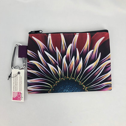 Sm. Canvas Cosmetic Pouch (Sm & Lg) - Wild Zinnia
