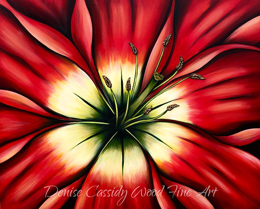 "Red Lily #552  (50"" x 40"")"