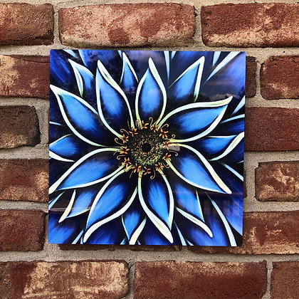 Metal Art - Blue Zinnia