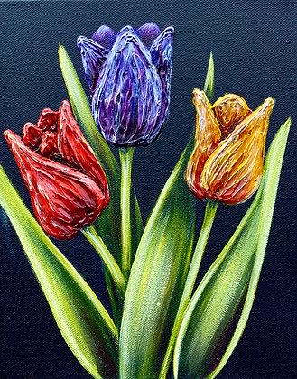 """Tulips #1244 (8"""" x 10"""")"""