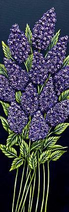 "Lilacs II #1243 (12"" x 36"")"