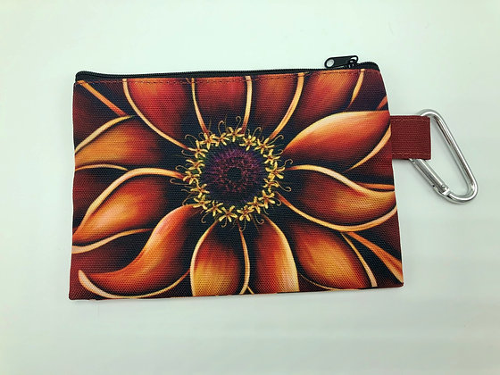 Sm. Canvas Cosmetic Pouch - Orange Zinnia