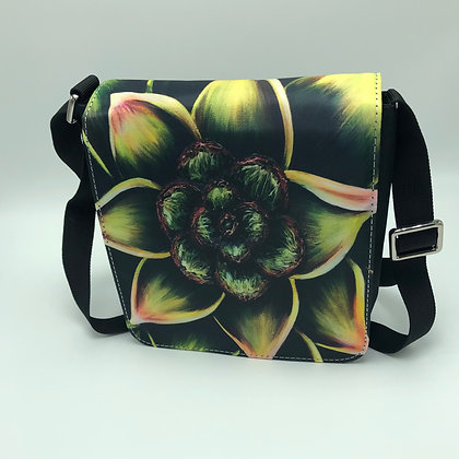 Small Flap Messenger Bag - Succulent