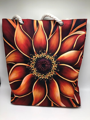 Orange Zinnia Rope Tote