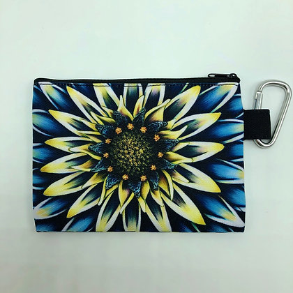 Sm. Canvas Cosmetic Pouch - Aqua Mum