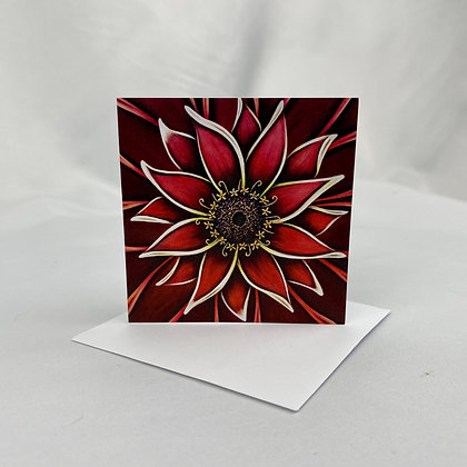 Mini Cards - Red Zinnia
