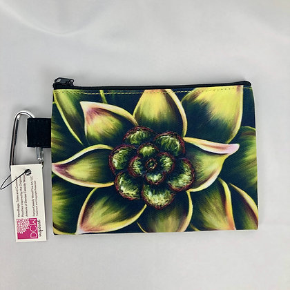 Sm. Canvas Cosmetic Pouch - Succulent