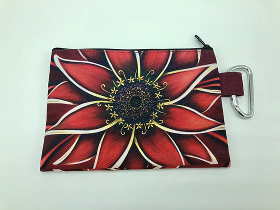 Sm. Canvas Cosmetic Pouch - Red Zinnia