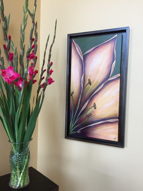 Caramel Lily with Custom Frame