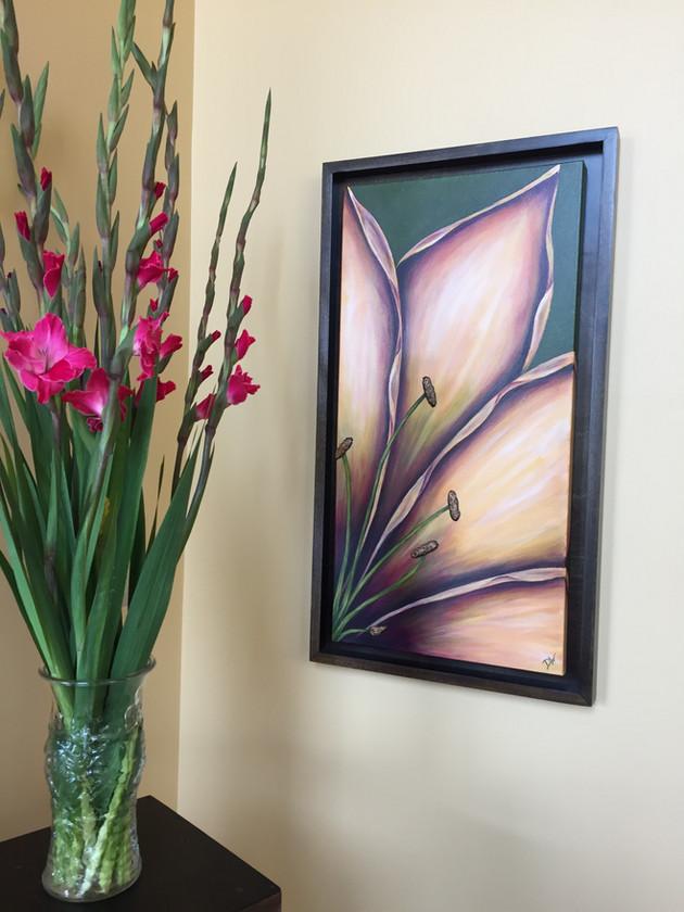 Caramel Lily with Custom Frame