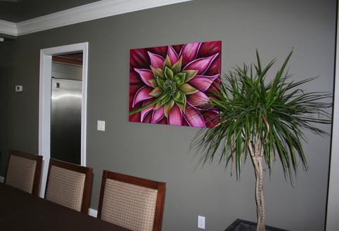 Pink Dahlia Dining Room