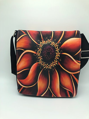 Large Flap Messenger Bag - Orange