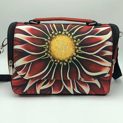 Satchel Bag - Crimson Zinnia