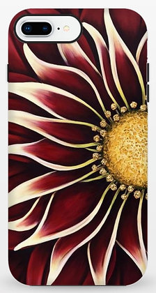 #019 Crimson Zinnia - Protective Phone Case