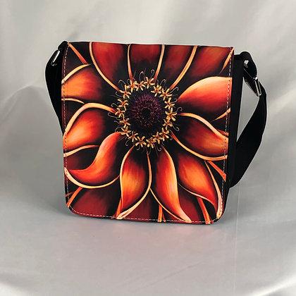 Small Flap Messenger Bag - Orange Zinnia
