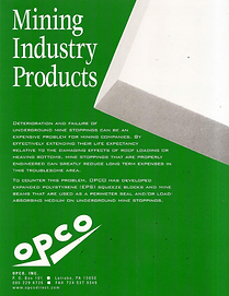 OPCO Mining Solutions from Recyclable Rigid Foam