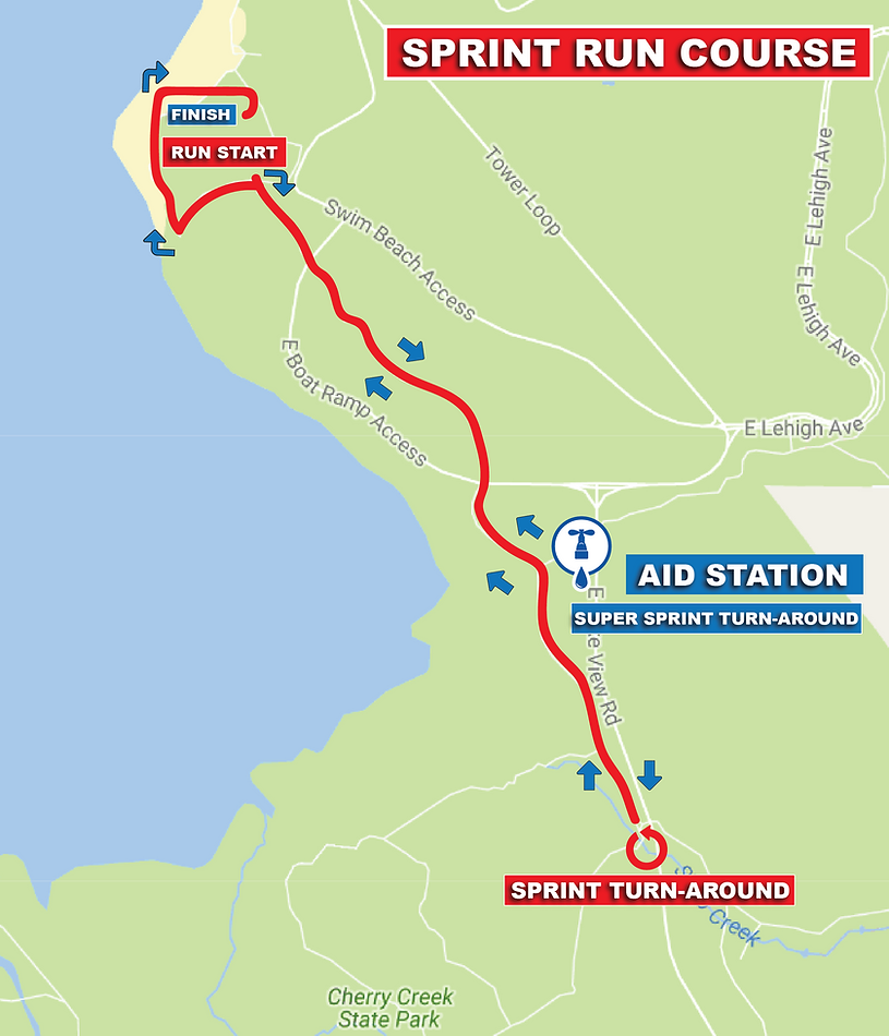 TriBella Sprint Run Course Map.png