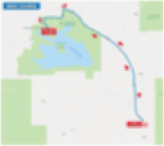Steamboat Lake Triathlon Bike Course Map