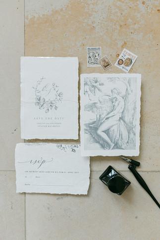 filigrane Papeterie im Fine Art Stil