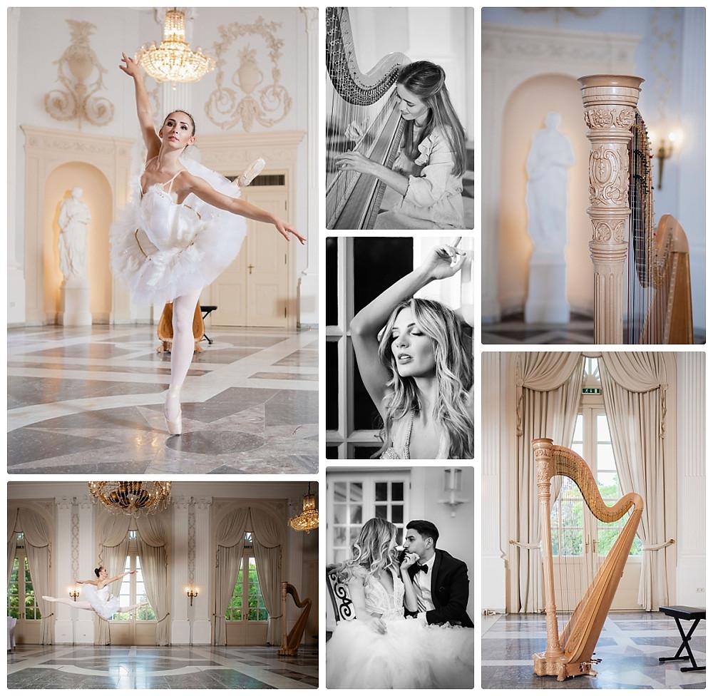 moderne Märchenhochzeit im Redoute Bonn Ballerina Schwanensee