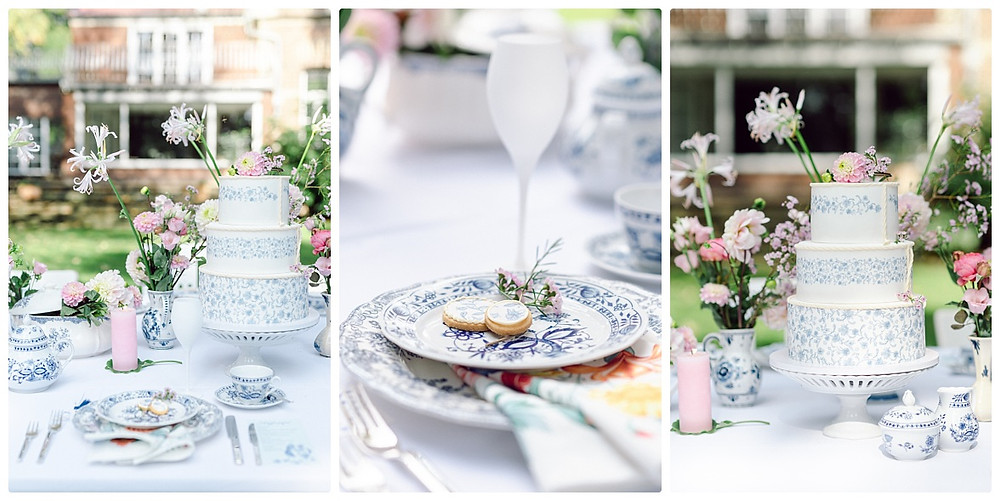 Delfter Porzellan für Deine Hochzeit in blau weiß