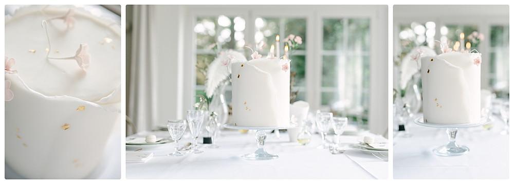 Ideen Tischdeko Sommerhochzeit - einstöckige Hochzeitstorte