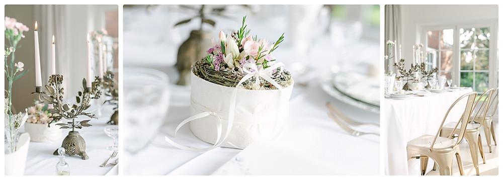 Ideen Tischdeko Sommerhochzeit - Blumengesteck